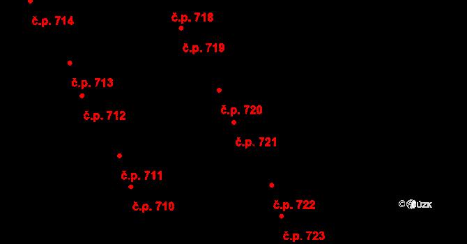 Kudlov 721, Zlín na parcele st. 1060 v KÚ Kudlov, Katastrální mapa