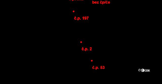 Lutín 2 na parcele st. 42 v KÚ Lutín, Katastrální mapa