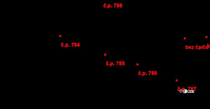 Bubeneč 785, Praha na parcele st. 967 v KÚ Bubeneč, Katastrální mapa