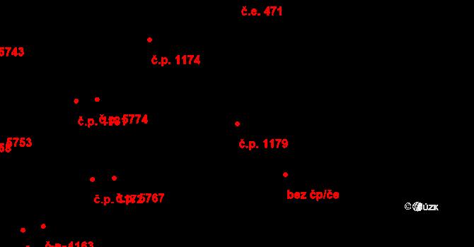 Zlín 1179 na parcele st. 1228 v KÚ Zlín, Katastrální mapa