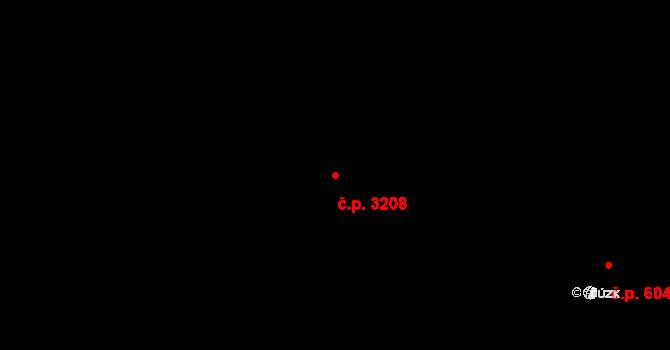 Smíchov 3208, Praha na parcele st. 2885/23 v KÚ Smíchov, Katastrální mapa