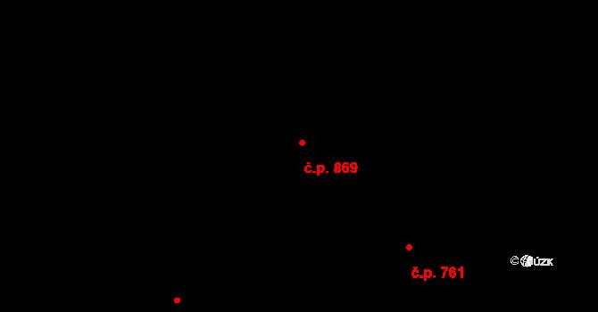 Kukleny 869, Hradec Králové na parcele st. 957/114 v KÚ Kukleny, Katastrální mapa
