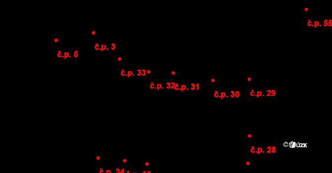 Jihlava 31 na parcele st. 61 v KÚ Jihlava, Katastrální mapa