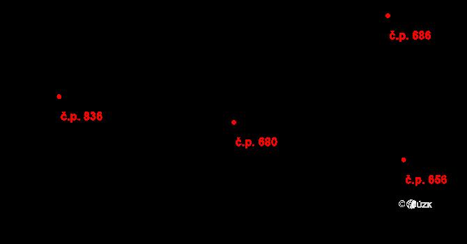 Vratimov 680 na parcele st. 2507 v KÚ Vratimov, Katastrální mapa