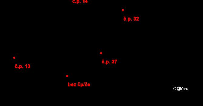 Sloup 37, Davle na parcele st. 218/1 v KÚ Davle, Katastrální mapa