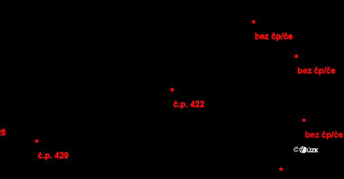 Vyškov-Město 422, Vyškov na parcele st. 1267/1 v KÚ Vyškov, Katastrální mapa
