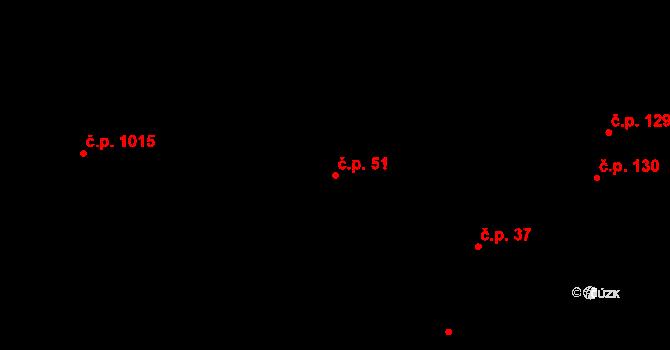 Úpice 51 na parcele st. 225/2 v KÚ Úpice, Katastrální mapa