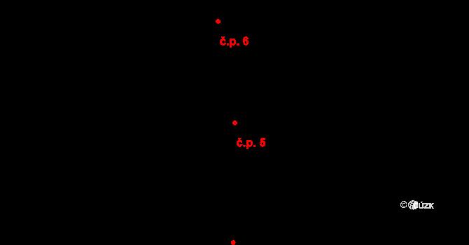 Pávov 5, Jihlava na parcele st. 249 v KÚ Pávov, Katastrální mapa