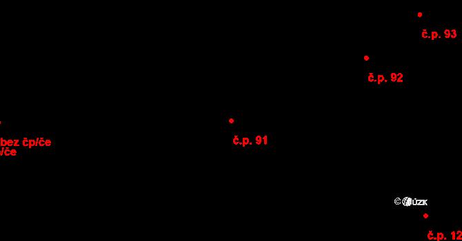 Bylnice 91, Brumov-Bylnice na parcele st. 200 v KÚ Bylnice, Katastrální mapa