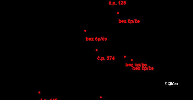 Prachatice II 274, Prachatice na parcele st. 301 v KÚ Prachatice, Katastrální mapa