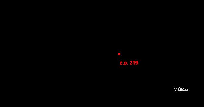 Nová Říše 319 na parcele st. 406 v KÚ Nová Říše, Katastrální mapa