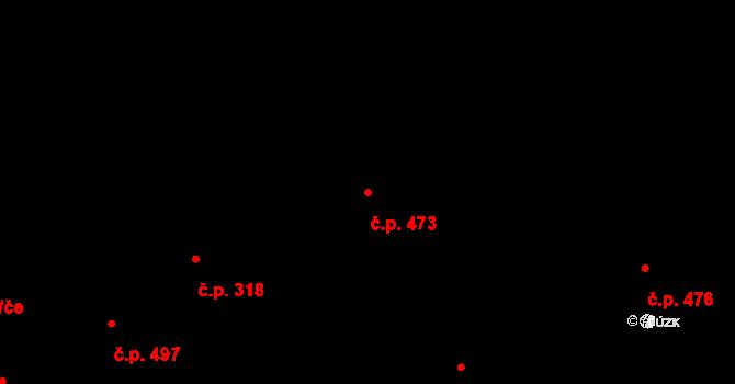 Vítkovice 473, Ostrava na parcele st. 333/1 v KÚ Vítkovice, Katastrální mapa