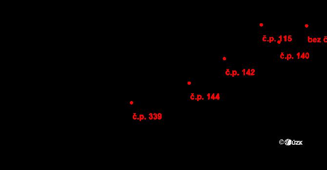 Nová Říše 144 na parcele st. 29 v KÚ Nová Říše, Katastrální mapa