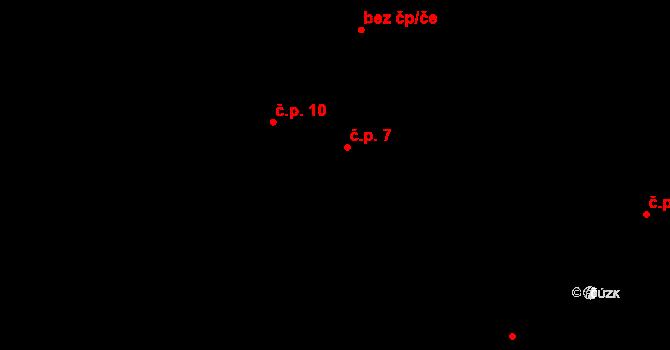 Chvalšovice 7, Čachrov na parcele st. 10/1 v KÚ Chvalšovice u Čachrova, Katastrální mapa