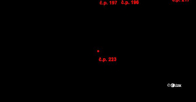 Moravany 223 na parcele st. 232 v KÚ Moravany nad Loučnou, Katastrální mapa