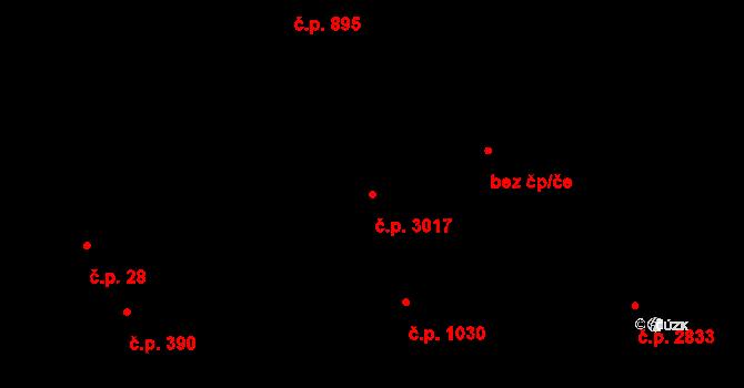 Předměstí 3017, Opava na parcele st. 1446/2 v KÚ Opava-Předměstí, Katastrální mapa