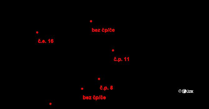 Předboř 11, Luka nad Jihlavou na parcele st. 16 v KÚ Předboř nad Jihlavou, Katastrální mapa