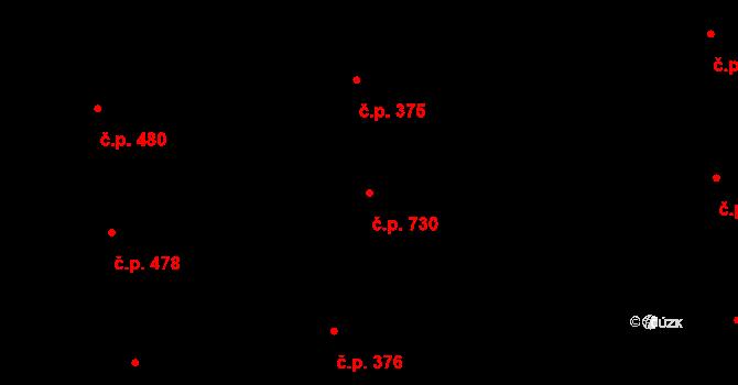 Vinohrady 730, Praha na parcele st. 355 v KÚ Vinohrady, Katastrální mapa