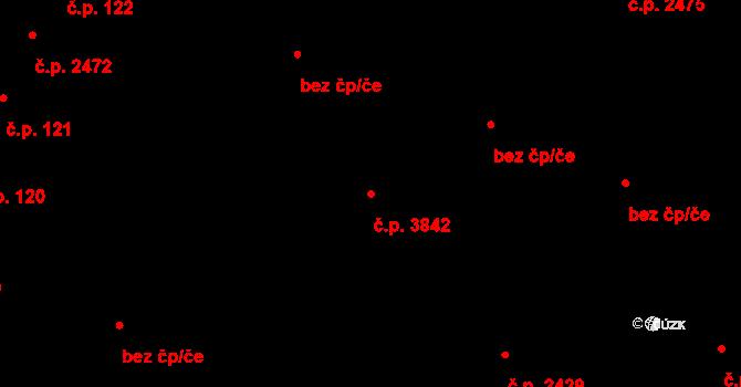 Hodonín 3842 na parcele st. 163/2 v KÚ Hodonín, Katastrální mapa