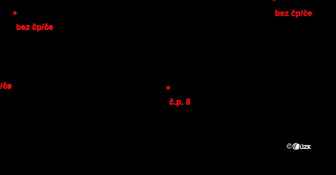 Svárkov 8, Letiny na parcele st. 12 v KÚ Svárkov, Katastrální mapa