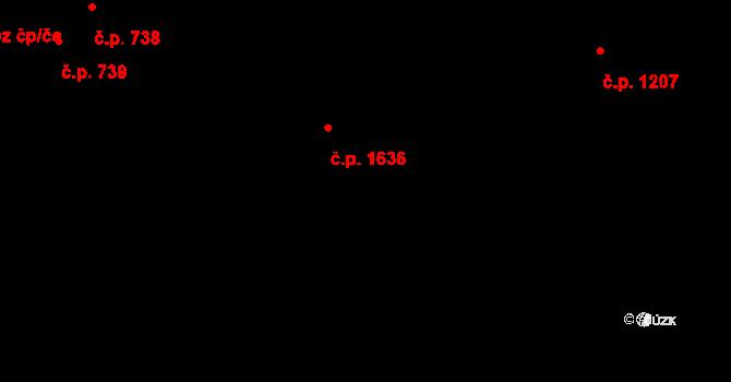 Vlašim 1636 na parcele st. 2434 v KÚ Vlašim, Katastrální mapa