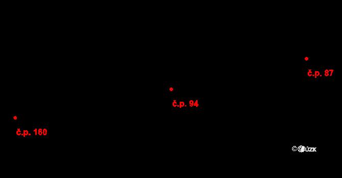 Dobroslavice 94 na parcele st. 111 v KÚ Dobroslavice, Katastrální mapa