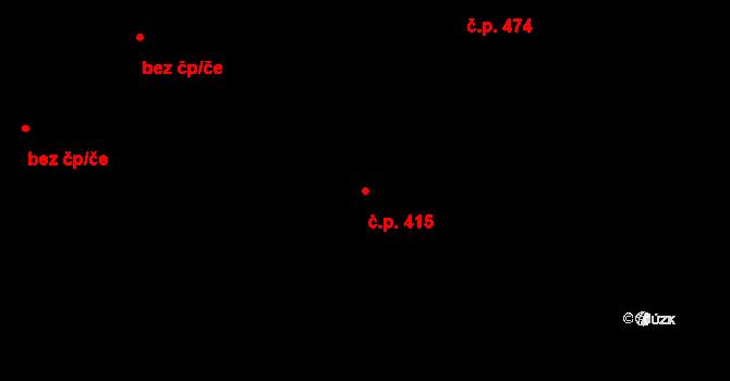 Horní Těrlicko 415, Těrlicko na parcele st. 1245 v KÚ Horní Těrlicko, Katastrální mapa