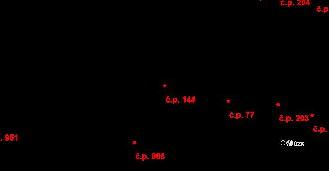 Újezd u Brna 144 na parcele st. 21/1 v KÚ Újezd u Brna, Katastrální mapa