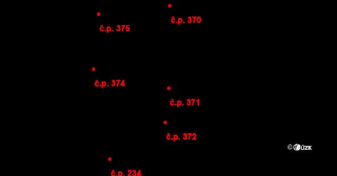 Vracov 371 na parcele st. 2897 v KÚ Vracov, Katastrální mapa