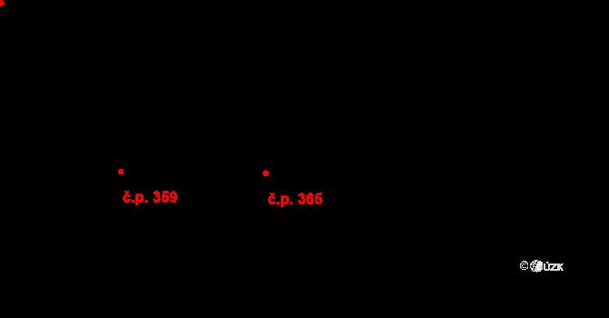 Stará Ves 365 na parcele st. 478 v KÚ Stará Ves u Rýmařova, Katastrální mapa