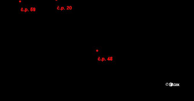 Koruna 48 na parcele st. 480 v KÚ Koruna, Katastrální mapa
