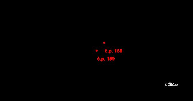 Tři Sekery 159 na parcele st. 443 v KÚ Tři Sekery u Tachova, Katastrální mapa