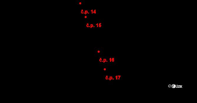 Krásné Loučky 16, Krnov na parcele st. 38 v KÚ Krásné Loučky, Katastrální mapa