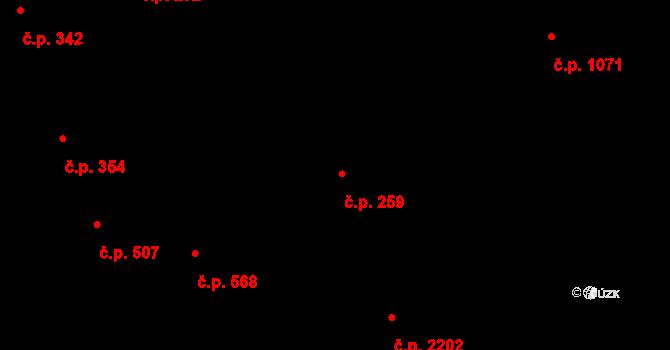 Libeň 259, Praha na parcele st. 3202 v KÚ Libeň, Katastrální mapa