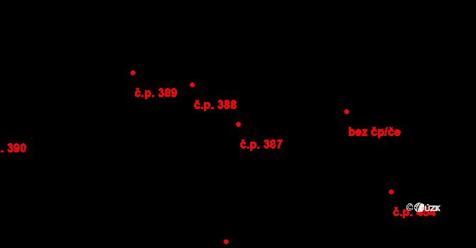 Dolní Břežany 387 na parcele st. 483 v KÚ Dolní Břežany, Katastrální mapa