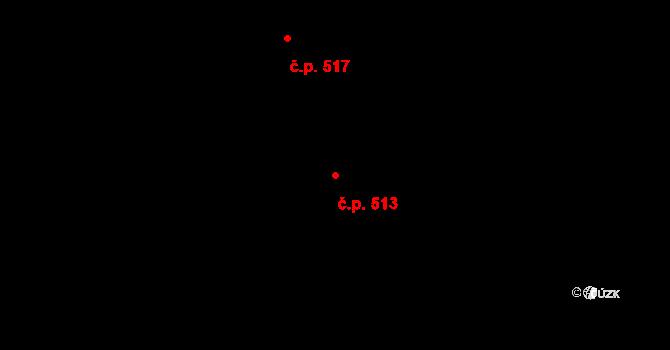 Lískovec 513, Frýdek-Místek na parcele st. 4455/38 v KÚ Lískovec u Frýdku-Místku, Katastrální mapa