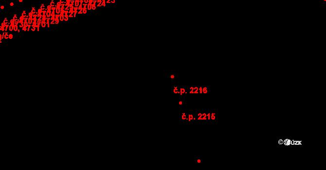 Jihlava 2216 na parcele st. 4769 v KÚ Jihlava, Katastrální mapa
