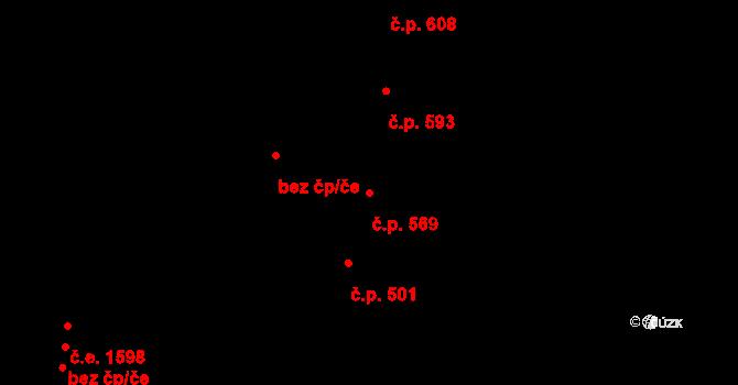 Zlín 569 na parcele st. 1071 v KÚ Zlín, Katastrální mapa