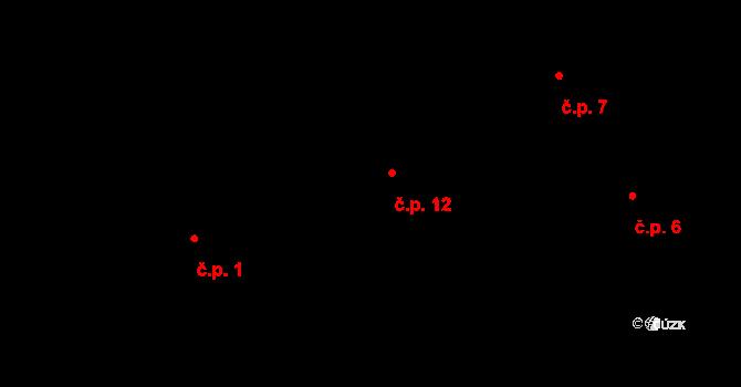 Předboř 12, Luka nad Jihlavou na parcele st. 3 v KÚ Předboř nad Jihlavou, Katastrální mapa
