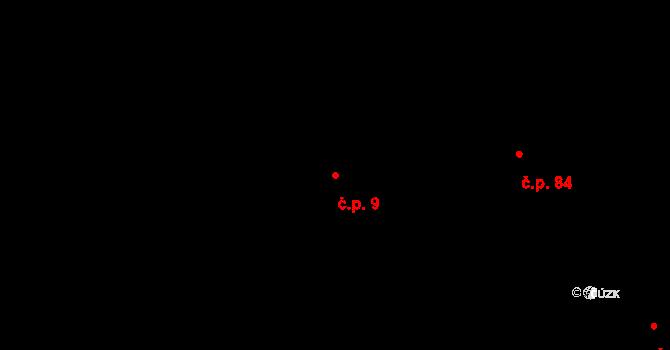 Stránka 9 na parcele st. 15 v KÚ Stránka u Mšena, Katastrální mapa