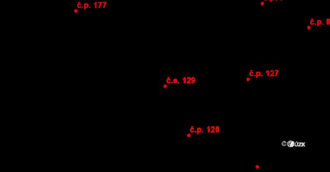 Lázně Kundratice 129, Osečná na parcele st. 4/1 v KÚ Lázně Kundratice, Katastrální mapa