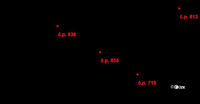 Litice 835, Plzeň, Katastrální mapa