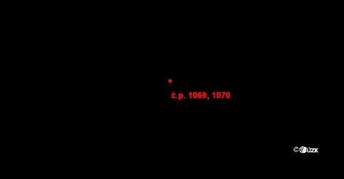 Řepy 1069,1070, Praha na parcele st. 1142/57 v KÚ Řepy, Katastrální mapa