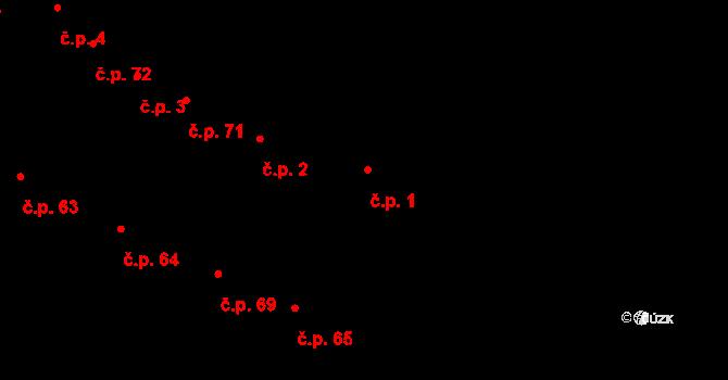 Karolín 1 na parcele st. 83 v KÚ Karolín u Sulimova, Katastrální mapa