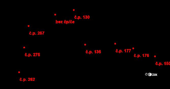 Řevničov 136 na parcele st. 212 v KÚ Řevničov, Katastrální mapa