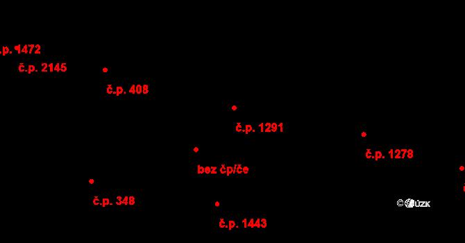 Modřany 1291, Praha na parcele st. 1072 v KÚ Modřany, Katastrální mapa