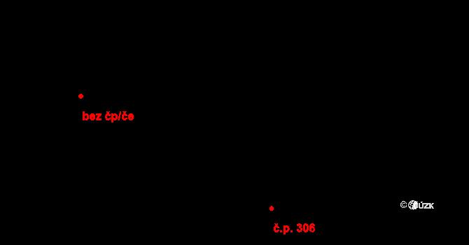 Staré Hory 306, Jihlava na parcele st. 510/1 v KÚ Staré Hory, Katastrální mapa