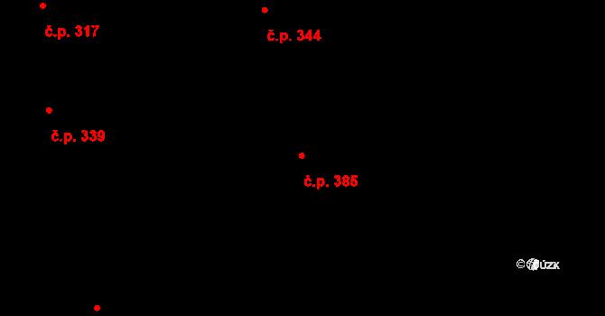 Chomoutov 385, Olomouc na parcele st. 129/5 v KÚ Chomoutov, Katastrální mapa