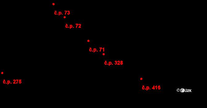 Studánka 328, Pardubice na parcele st. 346 v KÚ Studánka, Katastrální mapa