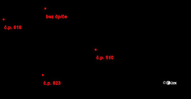 Okříšky 610 na parcele st. 678/26 v KÚ Okříšky, Katastrální mapa
